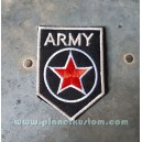 Patch ecusson thermocollant army red star etoile rouge armée USA