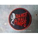 Patch ecusson thermocollant dance hall pimps micro shure rock n roll red