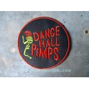 Patch ecusson thermocollant dance hall pimps micro shure rock n roll green