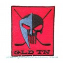 Patch ecusson punisher tête de mort skull GLD TN hockey black