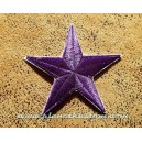 Patch ecusson thermocollant purple star etoile polaire violette