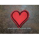 Patch ecusson a coudre coeur heart amour love oldschool