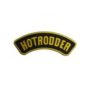 Patch hotrodder or et noir