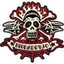 Sticker Bigdaddyjo Skull strip BIG5