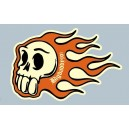 Sticker Bigdaddyjo Skull flaming BIG8