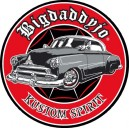 Sticker Bigdaddyjo Kustom spirit red circle chevy scalope BIG19