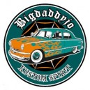 Sticker Bigdaddyjo Kustom spirit green circle merc flaming BIG20