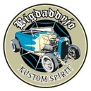 Sticker Bigdaddyjo Kustom spirit hot rod blue BIG21