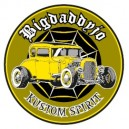 Sticker Bigdaddyjo Kustom spirit hot rod yellow BIG22