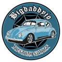 Sticker Bigdaddyjo Kustom spirit blue bug BIG23