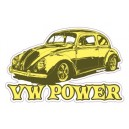 Sticker Bigdaddyjo vw power yellow bug BIG25