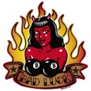Sticker Bigdaddyjo pinup diablesse bad luck BIG27