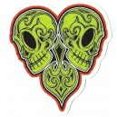 Sticker Humantree tidwell collector skull heart tidwell6