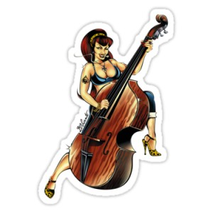 Sticker pin up sexy rock'n'roll d.Vicente 9