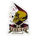 Sticker born bad skull d.Vicente 11
