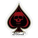 Sticker deuce of spade skull d.Vicente 12