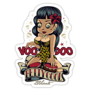 Sticker pin up betty cool voodoo d.Vicente 17