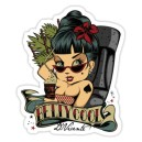 Sticker pin up betty cool tiki d.Vicente 19
