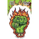 Sticker Humantree zombie hand love fist tattoo tidwell11