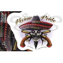 Sticker sugar Skull mexican pride JA602