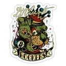 Sticker the king cat rocker tiger d.Vicente 22