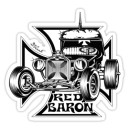 Sticker hot rod nb red baron iron cross d.Vicente 27