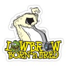 Sticker lowbrow born'n bred hand shifter monster