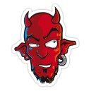 Sticker devil head diable luckydevil demon 1
