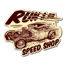 Sticker Bigdaddyjo hot Rod run & run speed shop BIG30