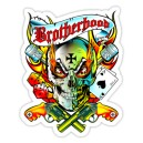 Sticker skull  brotherhood kustom bandit d.Vicente 33