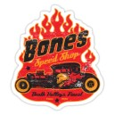 Sticker bones speed shop skull death valley's finest rod 2