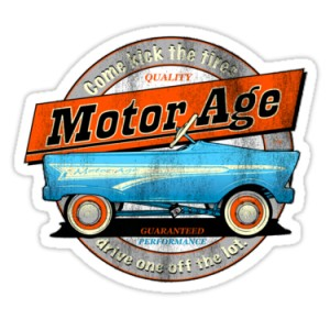 Sticker motor age come kick the tires patina racing 4