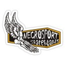 Sticker necrosport skateboards foot wings skull 5