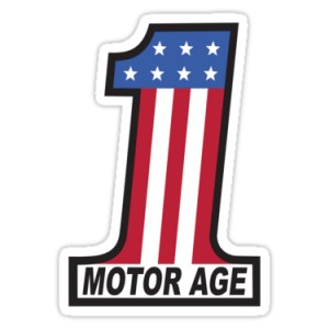 Sticker motor age first american flag evel knivel racing 6