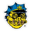 Sticker simpsons policeman shrunken head zombie 3
