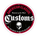 Sticker american classiccustoms bastards of the road skull 11