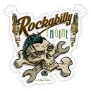 Sticker rockabilly engine skull 13