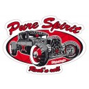 Sticker Bigdaddyjo pure spirit rat rod rocknroll BIG33