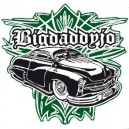 Sticker Bigdaddyjo kustom black green pinstriping BIG37