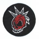 Patch ecusson red skull punk
