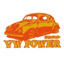 Sticker Bigdaddyjo vw power orange bug BIG38